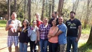 Dad & Azzie, Mama, Ant & I, Jewel & Steve, Kady & Silas, and Michael